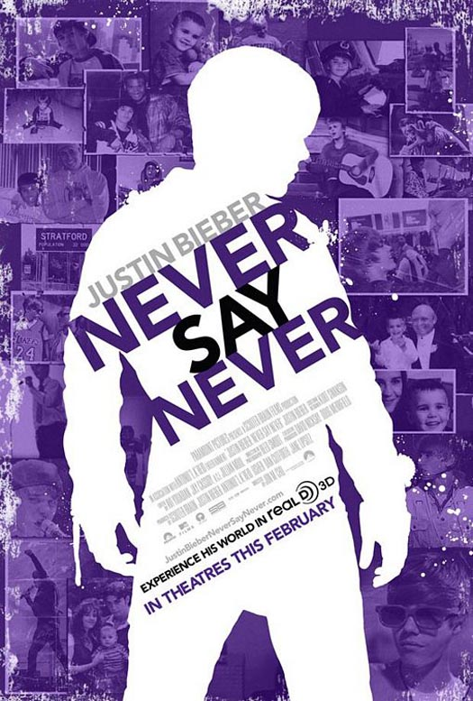 justin bieber never say never movie poster. Justin Bieber: NeverSayNever